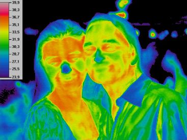 salsa dancers, thermal image